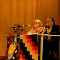 Dra. Patricia Arca Mena y Lic. Gustavo Massutti Llach en seu charla sobre Neurociencia