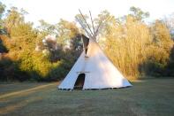 Tee pee Navajo que inició el ciclo CISEI Argentina