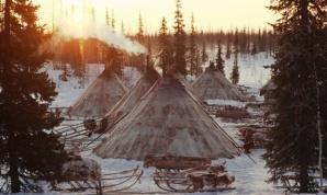 acampamento de invierno Nenet