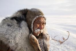 Grisha Rahtyn, pastor de renos, con -30°C.