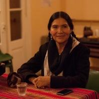 Luzmila Carpio nos visitó en 2014