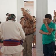 """Ceremonia de cierre. VIII Foro """"Ritualidad, vida cotidiana y Sanación"""". Tarapoto, Perú"""